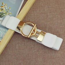 Ladies Women Fashion Gold Wide Narrow Stretch Elastic Waist Belt Party Gifts UK