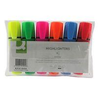 6X Subrayador Rotuladores Varios Colores Punta Plana