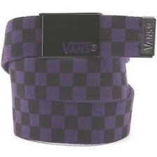 Vans Off The Wall Deppster Purple Black Web Belt Bottle Opener Buckle OSFA NWT