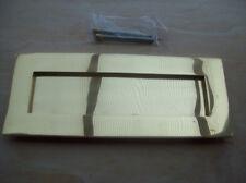 25.4cm x 10.2cm pesante a molle ottone lucidato grande cassetta delle lettere