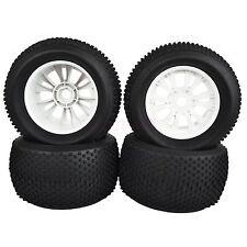 4PCS 140mm RC 1:8 Monster Bigfoot Truck Tyre Tires 17mm HEX Wheel Rim white 996W