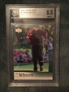 2001 Upper Deck Tiger Woods # 1 BGS 8.5