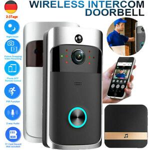 Türklingel mit Kamera HD WLAN Nachtsicht WiFi Video Funkklingel Ring Doorbell