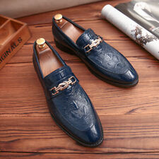 Mens Pointy Toe Casual Leather Dress Formal Wedding Business Loafers Shoes New