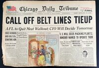 1946 Chicago Tribune Newspaper January 24, Railroad Strike Off