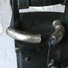 """1 Perle """"Murano""""  Tube Courbé - Ø10X37mm - CENDRE FUMEE"""
