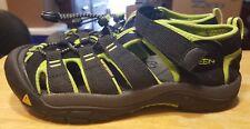 Keen sandals black/green size 4 kids elastic laces unisex beautiful comfortable