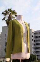TINKUY PERU 100% Alpaca Wool Womens Green Cardigan Peruvian Knit Sweater Small S