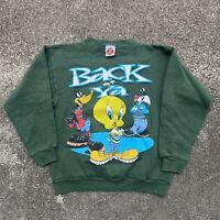 Vintage 1996 Kids Looney Tunes Back At Ya Graphic Sweatshirt Size Large