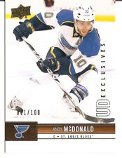 12/13 UD EXCLUSIVES /100 ANDY MCDONALD # 164