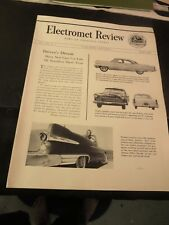 1956 Electromet Review Stainless Steel News Vol XXII No.3 Automobiles