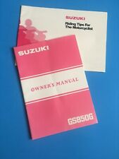 Suzuki Owners Owner's Manual 1982 GS850G GS 850 OEM NEW