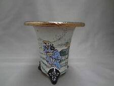 'Kyouraku-yaki' Japanese handpainted Rohdea japonica pot, orchid (4.8) Toukaidou