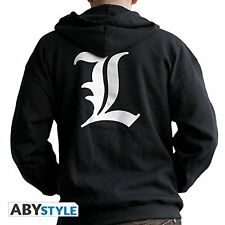 """Death Note Hoodie """"L"""" Large New"""