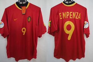 2000-2001 Belgium KBVB Jersey Shirt Maillot Home Nike UEFA Euro Mpenza #9 L BNWT