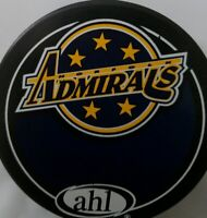 NORFOLK ADMIRALS VINTAGE AHL OFFICIAL VEGUM MFG HOCKEY PUCK MADE IN SLOVAKIA