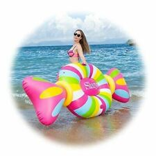 NEW, Inflatable Pool Float Pool Rafts Lounger Swimming Toy with Rapid Valves Can
