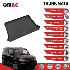 Cargo Liner Trunk Floor Mat 3D Molded Black for Honda Element 2003-2011