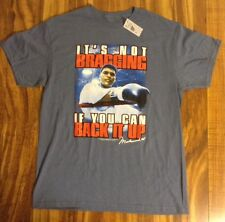 """Muhammad Ali Boxing It's Not Bragging If You Can Back It Up T Shirt """"L"""" NEW NWT"""
