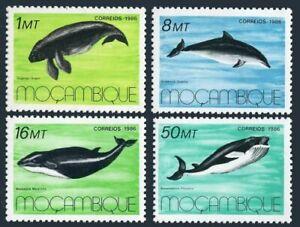 Mozambique 995-998,MNH.Michel 1066-1069. Marine mammals 1986.Dugongo dugon,