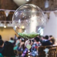 Luftballons Transparent Geburtstag Hochzeit Party ohne Falten Ballons Deko