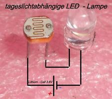 Photoresistor / Fotowiderstand GL5516 (5-10k) LED -weiss ... einfach DIY