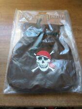 pirate pouch clutch skull n crossbones velvet bag bounty holder
