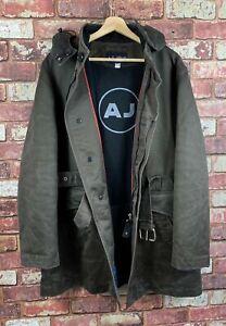 Armani Jeans Mens Belted Hooded Coat / Jacket Large J601