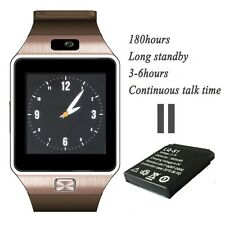 New DZ09 Smart Watch phone  For Android ios Iphone Sony HTC Bluetooth Golden