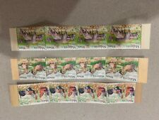 MALAYSIA 2015 farm animals stamps 3v 4 in row MNH