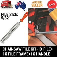 """CHAINSAW CHAIN SHARPENING KIT WITH 5/32"""" (4.0MM) ROUND FILE WITH GUIDE & HANDLE"""
