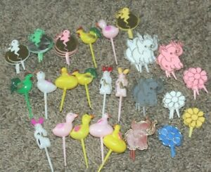 Vintage Football Players Cake Toppers Decoration and Easter Elephants and more