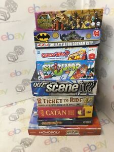 BUNDLE OF POPULAR FAMILY ADULT CHILDREN BOARD GAMES PANDEMIC CATAN GUESS WHO ++