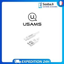 Cable Iphone USAMS 120cm Solide Rencorcé Lightning Pour Apple Blanc