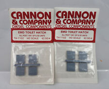 LOT OF 2 CANNON & COMPANY HO SCALE TH-1102 EMD TOILET HATCH