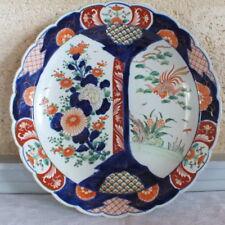 grand plat rond Imari porcelaine Chine fin 18ème diamètre 39 cm