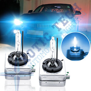 2X D1S Ice Blue HID Xenon Headlight Light Bulbs OEM Replacement For BMW Audi VW