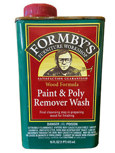 Forby's Wood Formula Paint & Poly Remover Wash 16 oz New Sealed Discontinued HTF