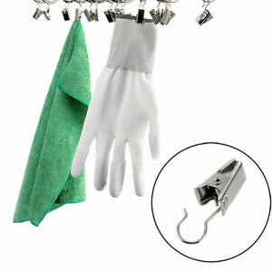 10pcs Window Shower Curtain Clips Metal Hook Heavy Duty Ring Clip Supply X8A7