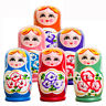 5Pcs Cute Babushka Nesting Dolls Matryoshka Wooden Russian Painted Doll Toy Gift