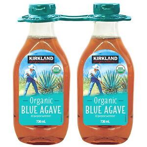 Kirkland Signature Organic Blue Agave All Purpose Sweetener 736ml Choose 1 or 2