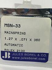 Jules Borel & Co. Mainspring Rolex 2130 Watch Movement 1.27 x .071 x 360 MSN-33