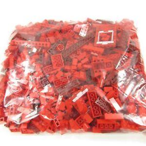 Bulk Lego Lot of RED pieces bricks ~ 2 lb. 1 oz. bag