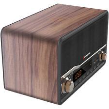 Monster Decora Wood Bluetooth Speaker and Clock Radio w/ Wireless & USB Charging