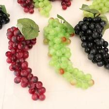 1x Bunch Lifelike Artificial Grapes Plastic Fake Fruit Home Decoration HL