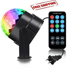 Disco Light Ball LED RGB Remote Control Party Rotating DJ Lamp Ball Music Dance