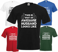 Awesome Husband T Shirt Gift Xmas Present Cool Birthday Anniversary Tee Funny