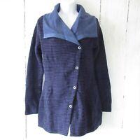 New $175 Prana Milana Sweater Jacket S Small Wool Blend Purple Stripe