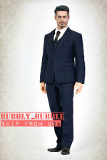 "1/6 Men Business Suit Set NAVY For 12"" Hot Toys PHICEN Worldbox Male Figure☆USA☆"