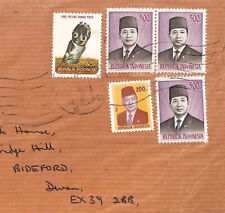 BT18 Indonesia 1976 SUHARTO 500r TOP VALUES *Padang* High Rate Registered Cover